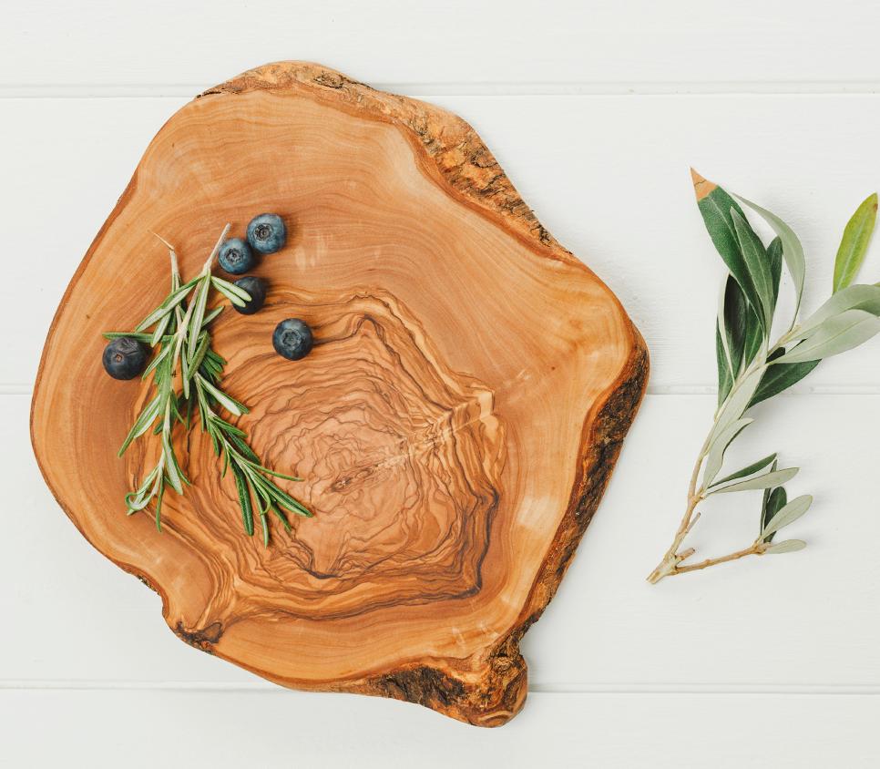 Skärbräda i olivträ