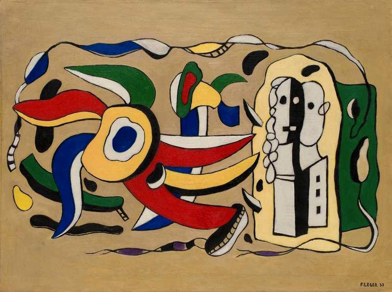 """""""Composition murale"""" av Fernande Léger misstänks vara förfalskad."""