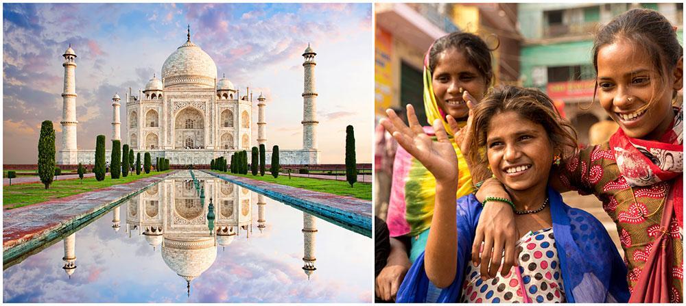 Indien har många spännande kulturella och historiska sevärdheter. Att besöka det sagolika palatset Taj Mahal är en upplevelse.
