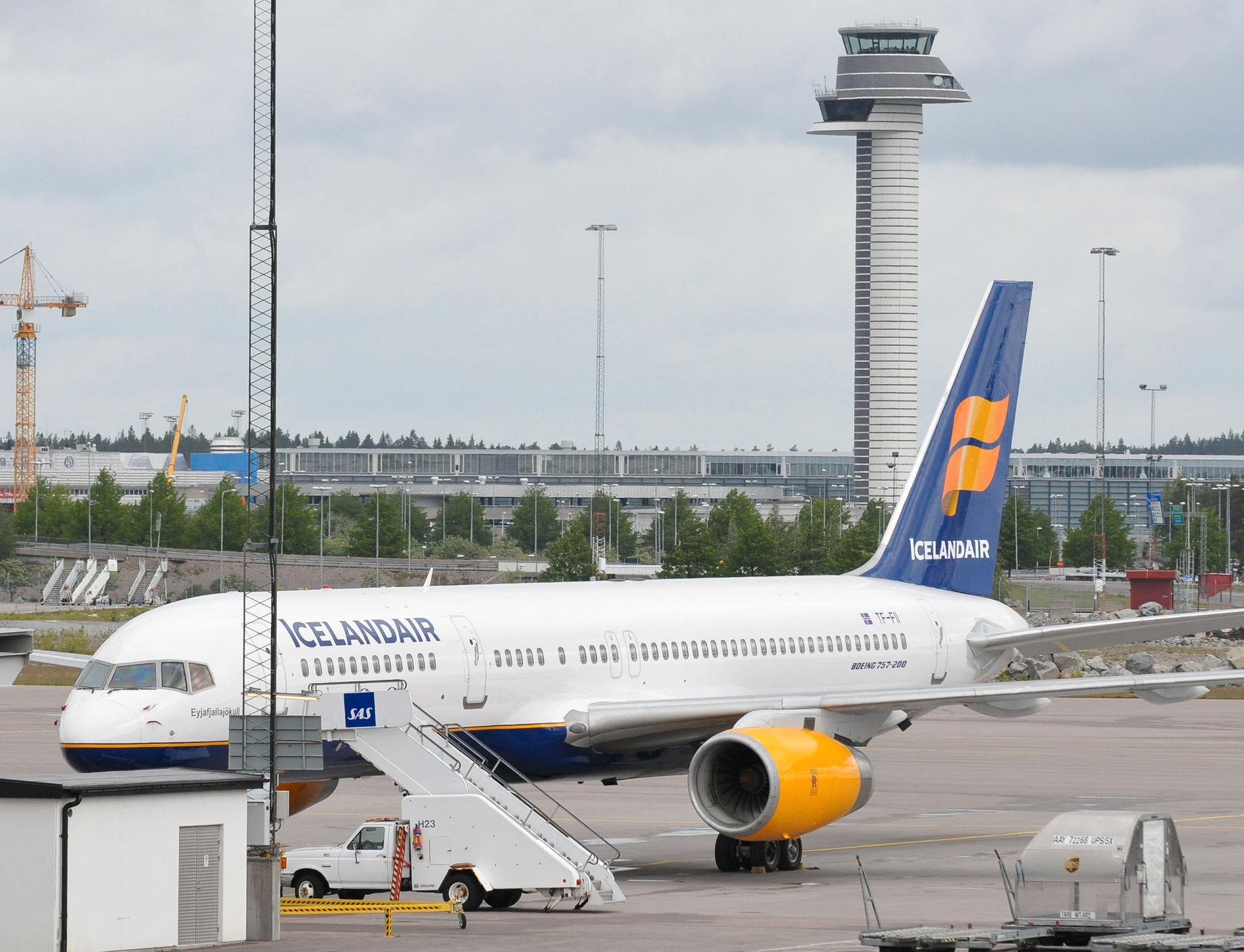 Det senaste utbrottet från Grímsvötn år 2011 stoppade delar av flygtrafiken över Atlanten – även från Arlanda. Arkivbild.