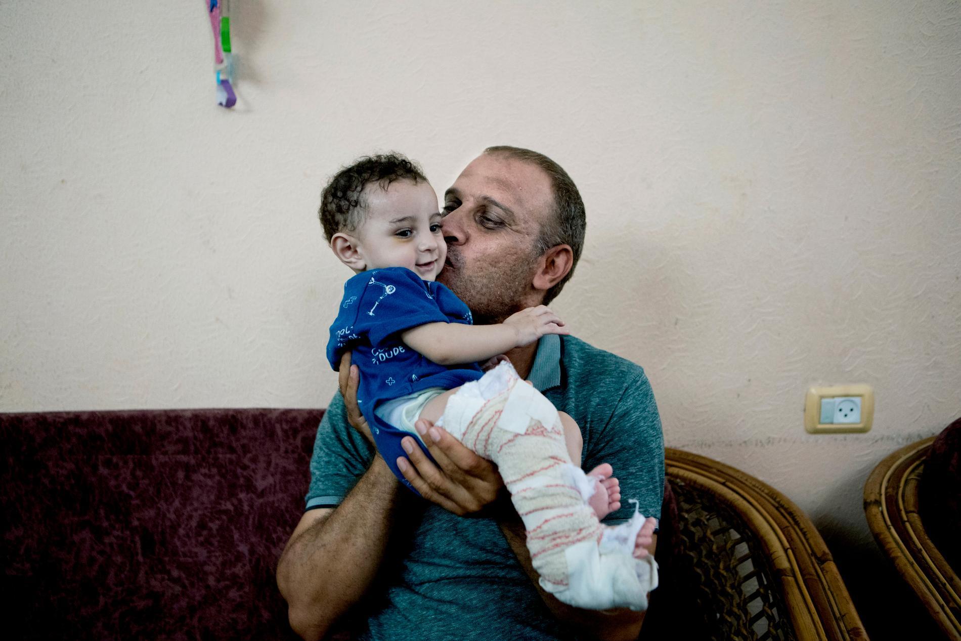 Muhammed med sonen Omar.