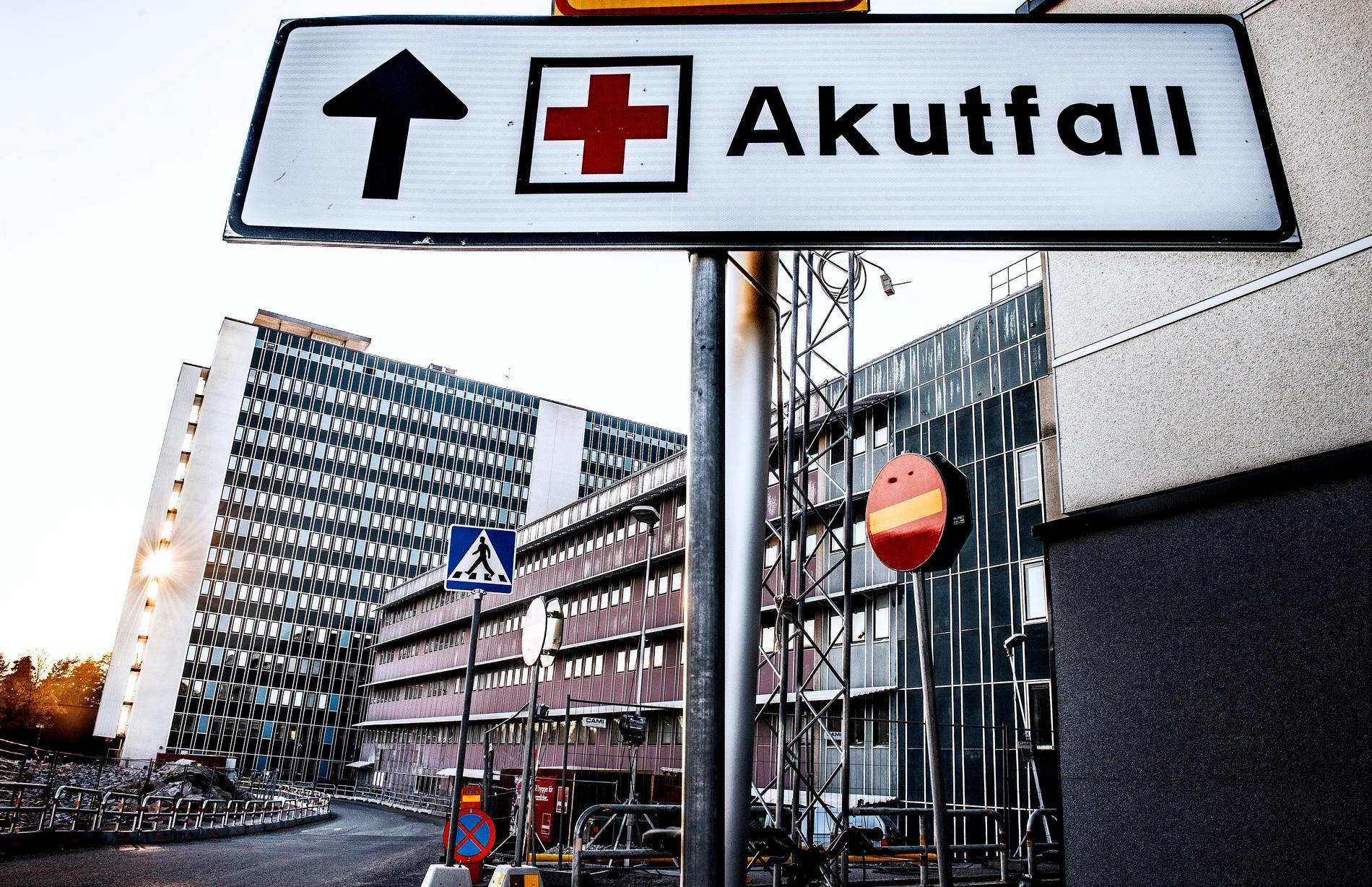 Danderyds sjukhus lex Maria-anmäler en händelse då en akutpatient dog. Arkivbild