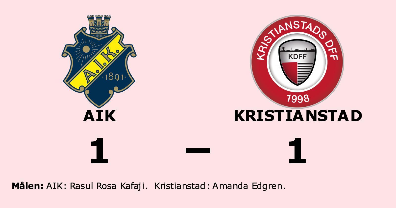 AIK bröt tunga sviten mot Kristianstad