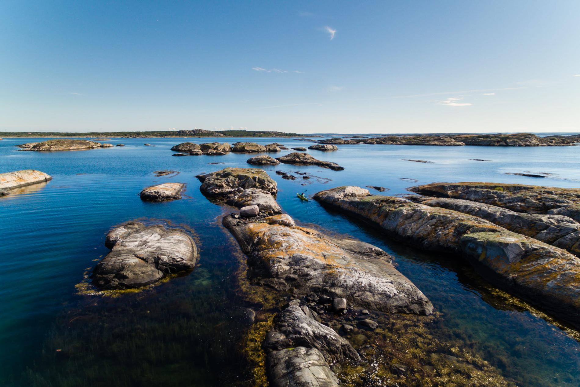 På Kosteröarna finns en stor variation på badplatser.