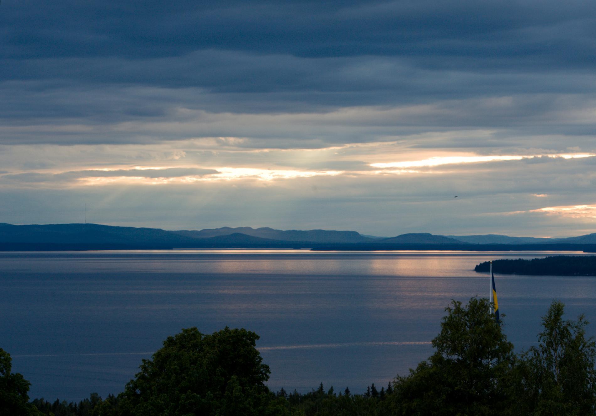 Solnedgång över Siljansjön