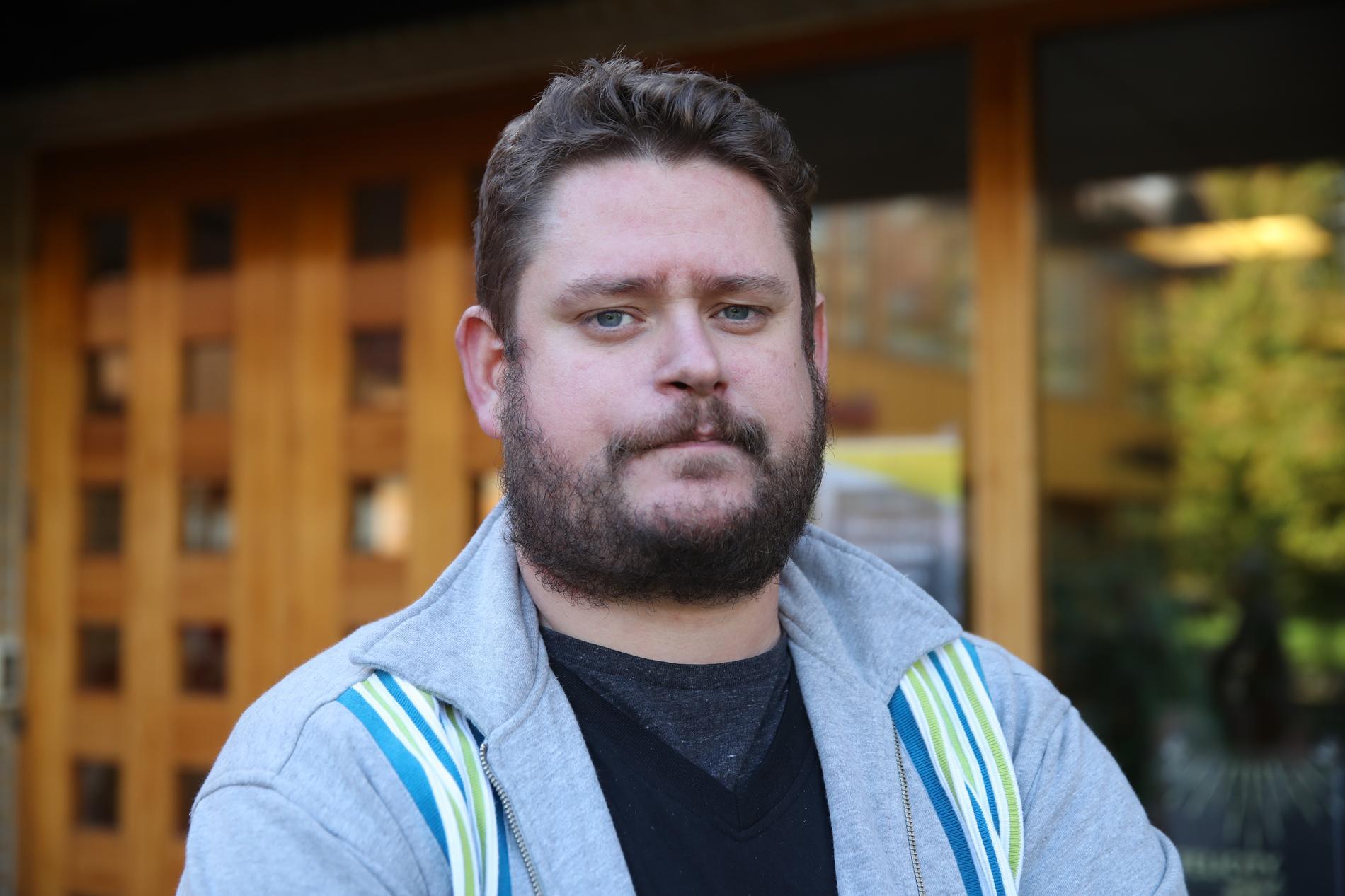 Kristoffer Svedberg väcktes av sin sambo efter explosionen.