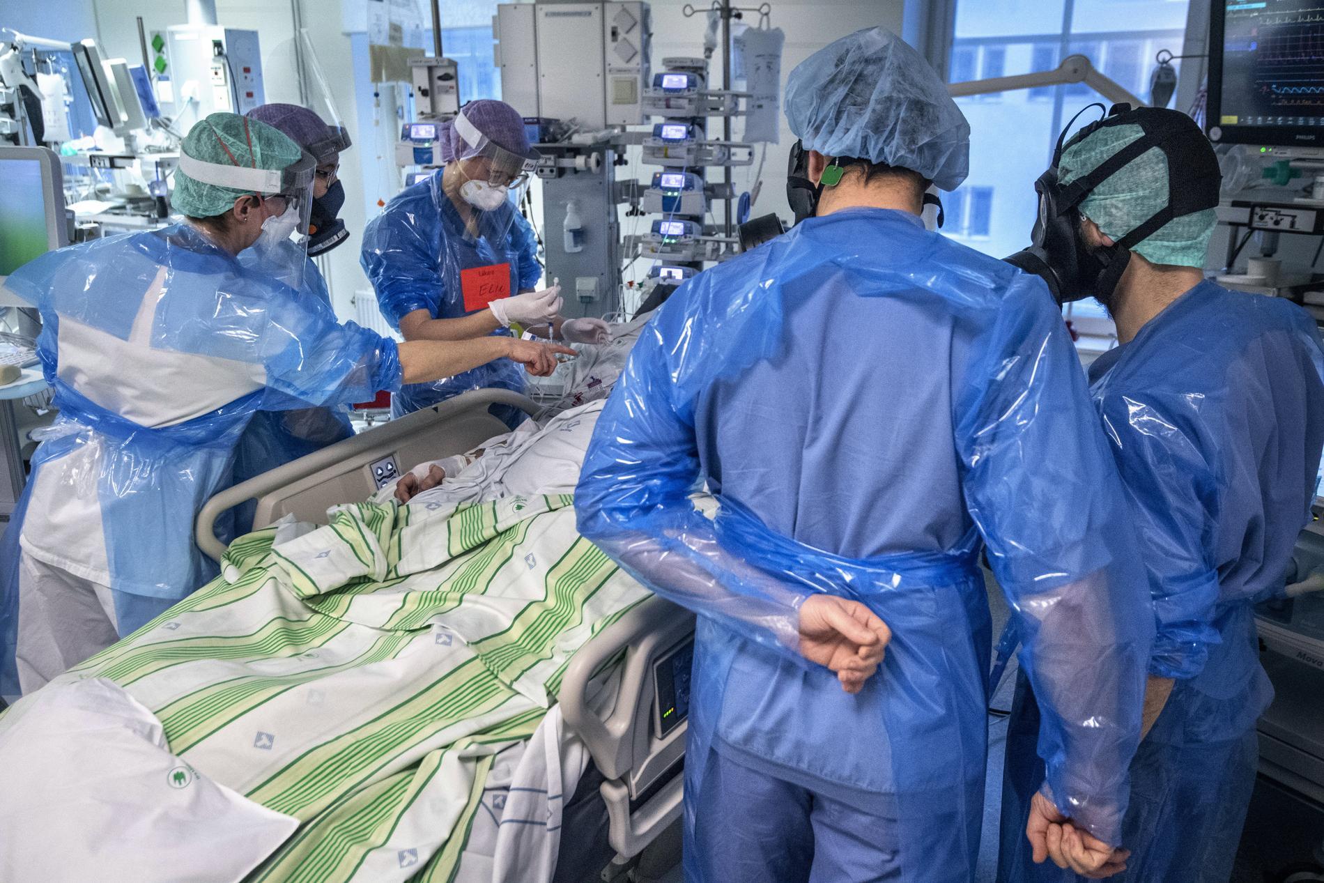Bilden är tagen vid Norrlands universitetssjukhus i Umeå.