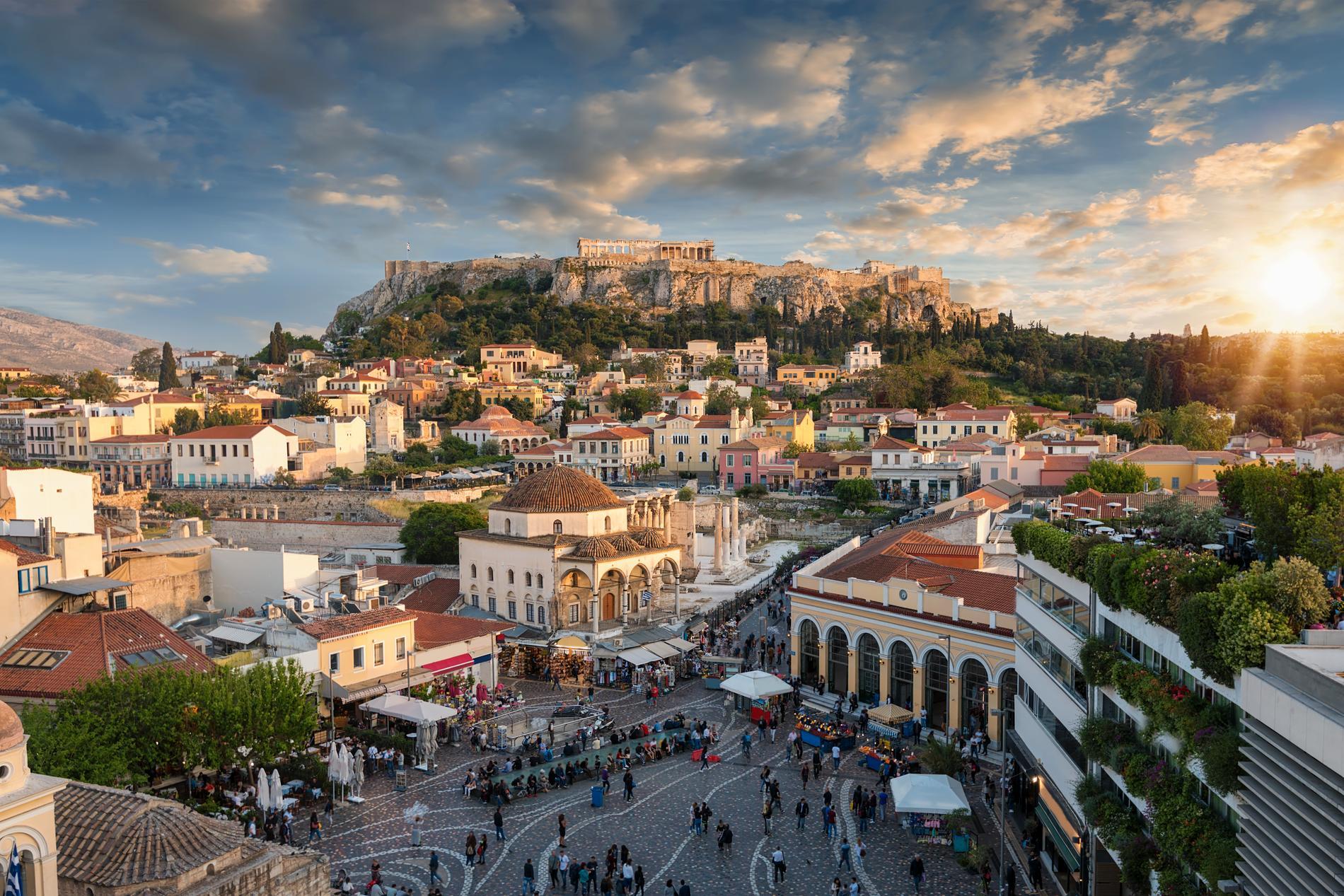 I Aten finns det mycket vackert att se, som Akropolis.