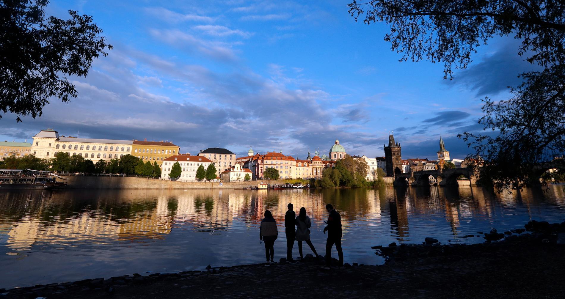 Floden Moldau i Prag.