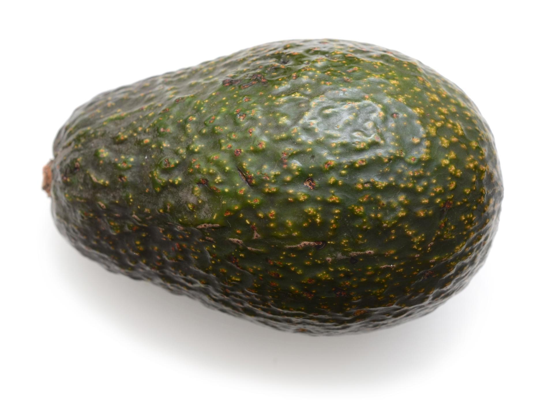 Fostret är lika stor som en avokado.