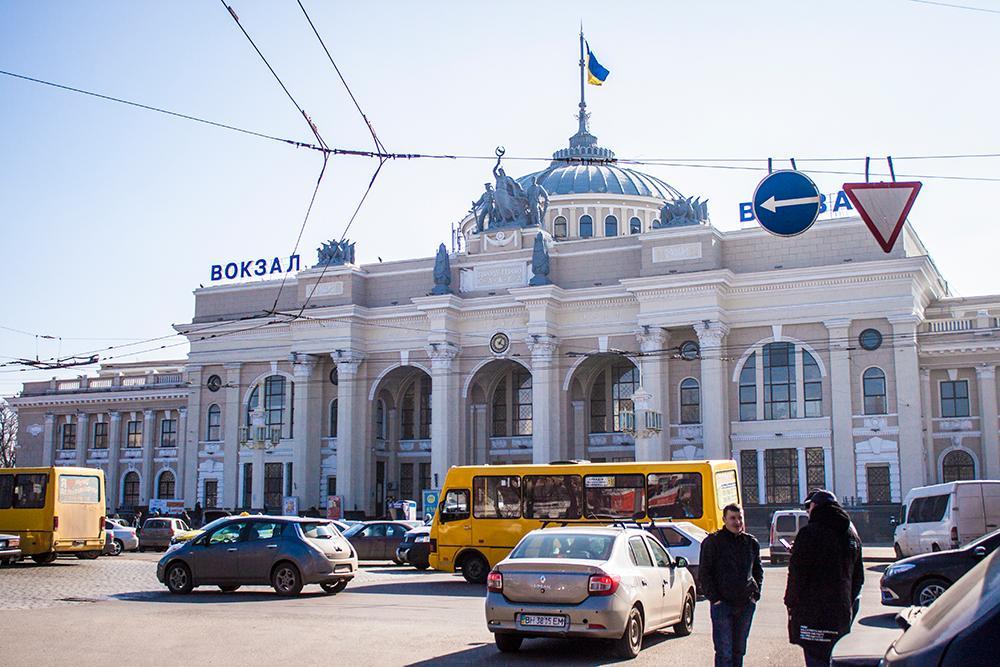 Järnvägsstationen i Odessa.