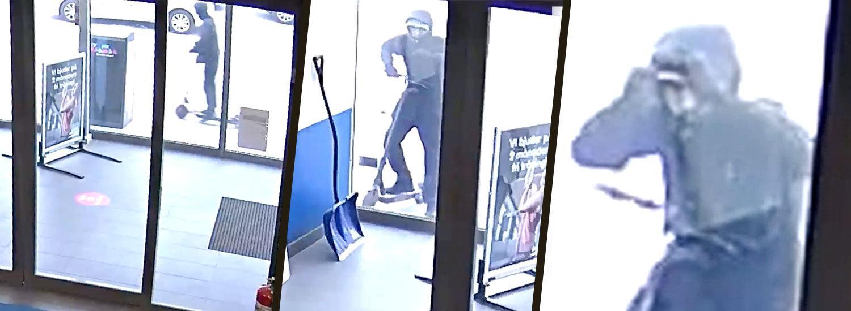 """Här spanar den misstänkte mördaren in i gymmet. Bilder ur """"Efterlyst"""" på Viaplay och TV3, programmet sänds ikväll klockan 20.00."""