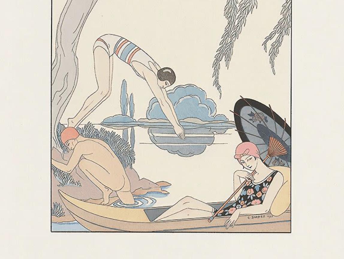 Harmoniskt motiv i japansk stil, bilden är beskuren.