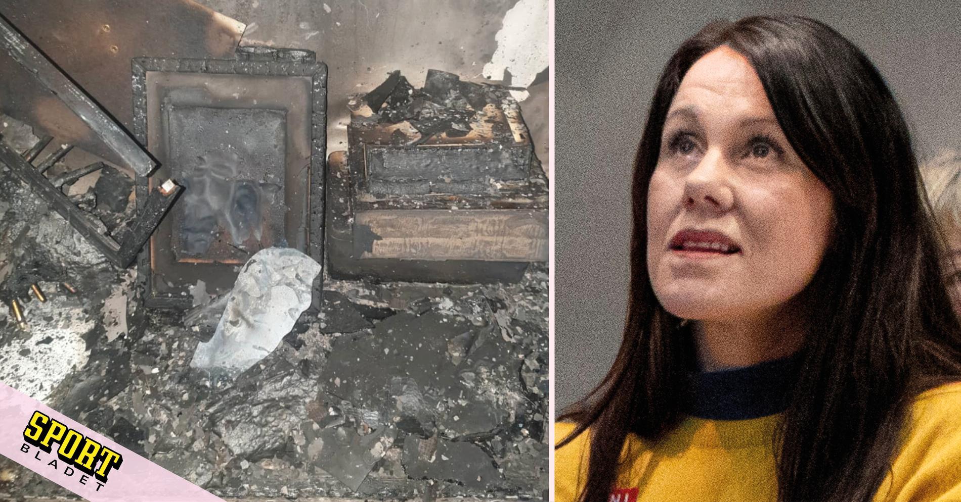 Guldhoppets hus brann ner: Det var surrealistiskt