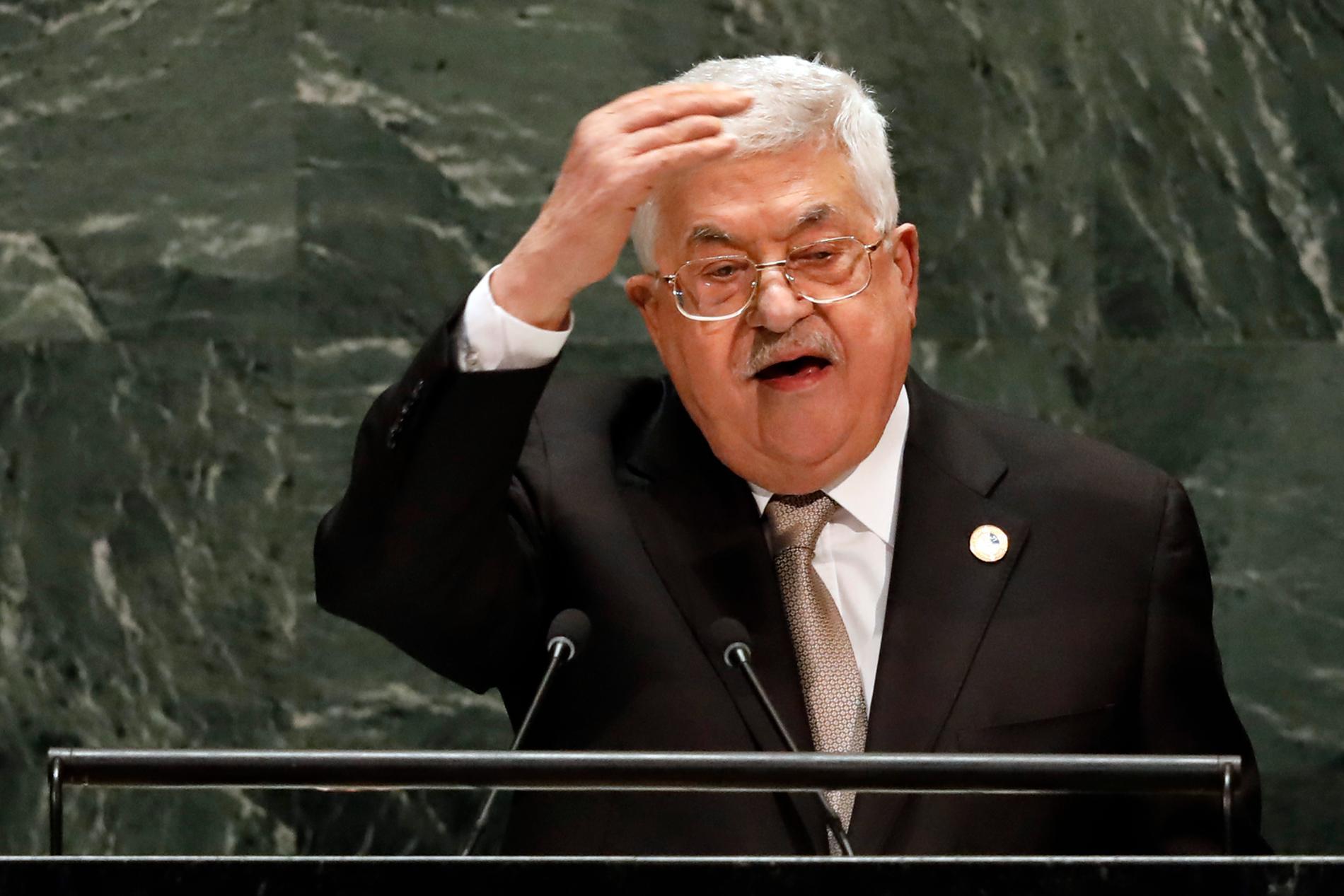 Mahmoud Abbas, Palestinas president.