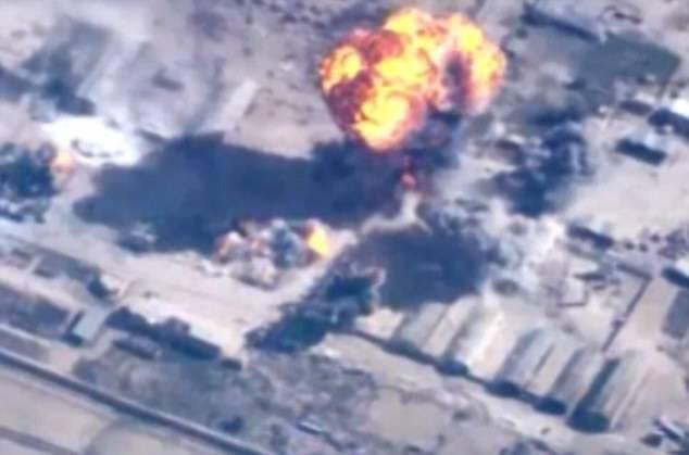 Jordanien har släppt material som visar hur deras flyg bombar mål.