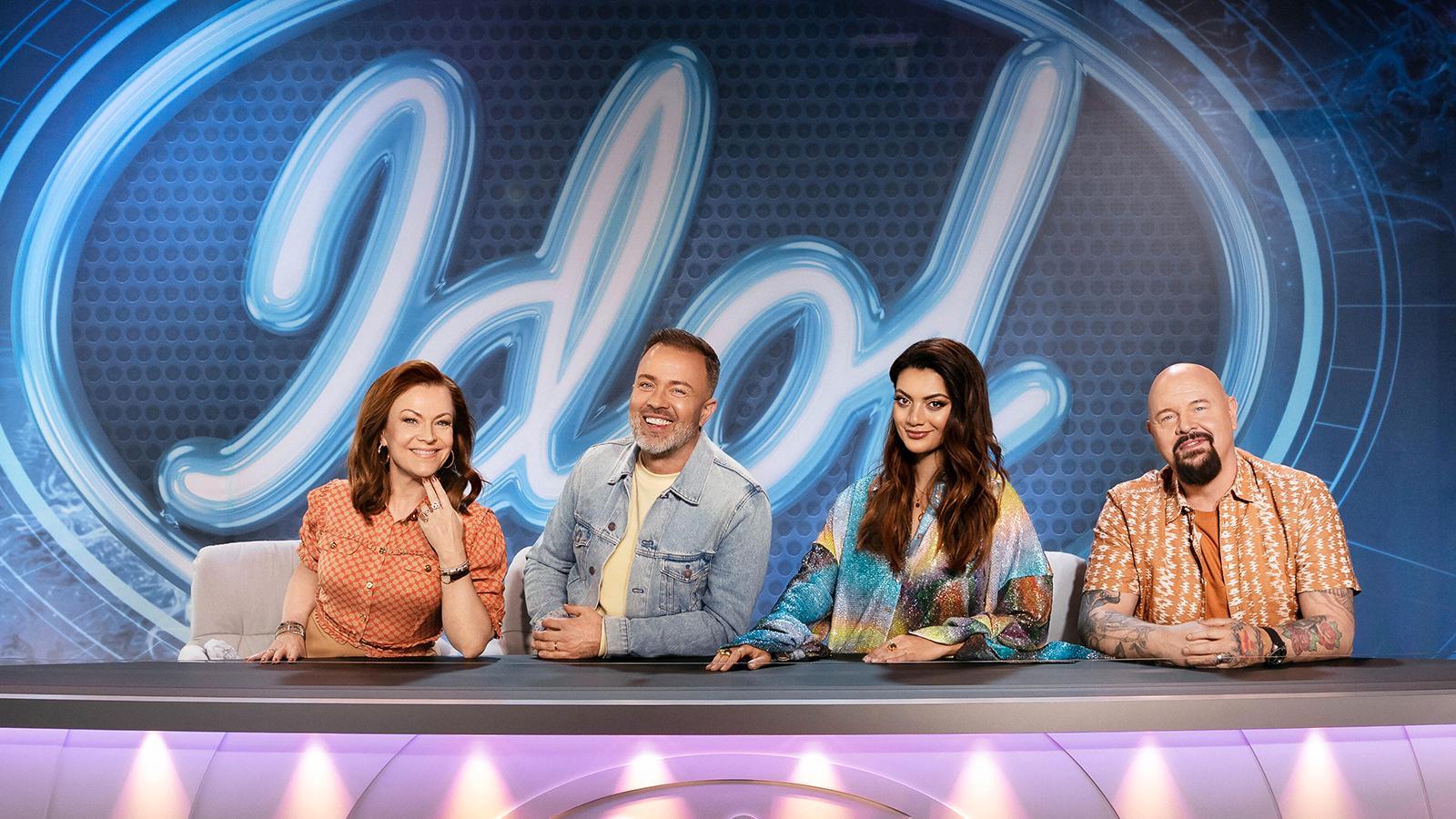 """Årets """"Idol""""-jury, från vänster Kishti Tomita, Alexander Kronlund, Katia Mosally och Anders Bagge."""