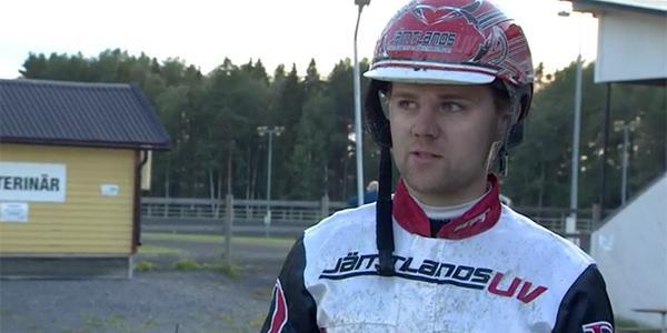 Mats E Djuse efter andraplatsen.