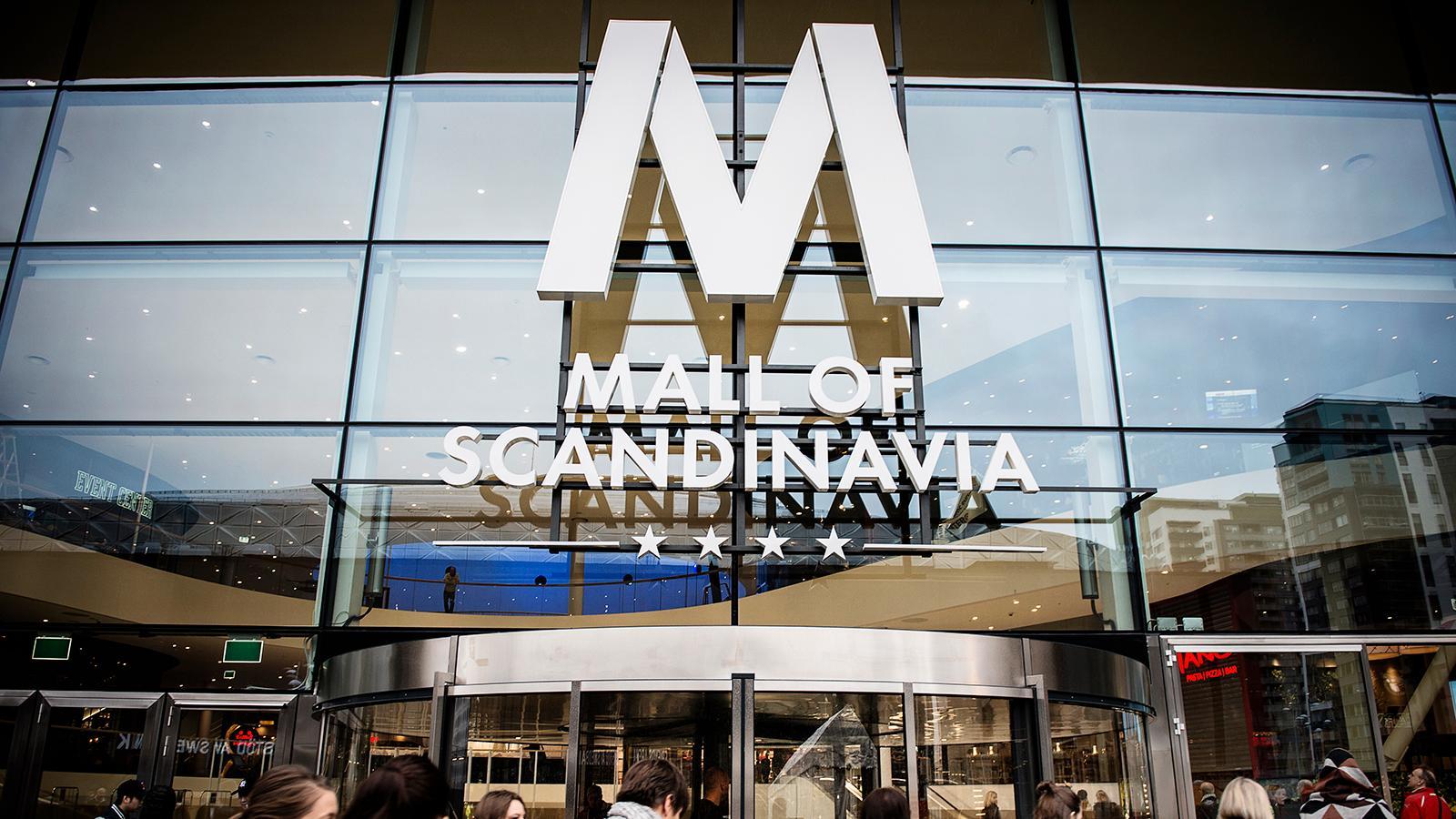 Jättegallerian Mall of Scandinavia, belägen intill Friends arena i Solna, Stockholm.
