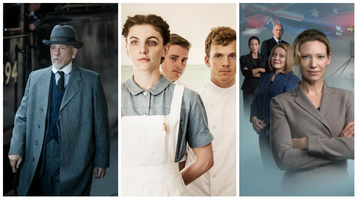 """""""ABC-morden"""", """"Sjuksystrarna på Fredenslund"""" och """"Secret city""""."""