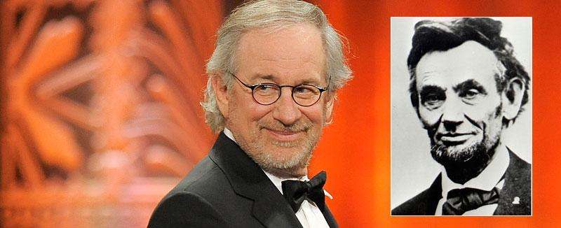Steven Spielberg gör en film om Abraham Lincoln (infälld bild).