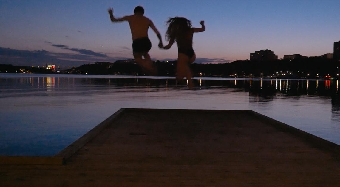 Edvin och Naomi i Stockholm.