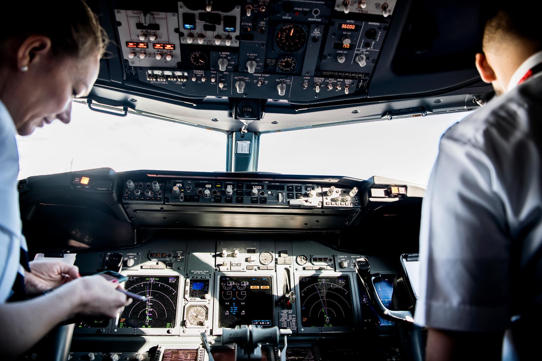 Bland piloter är arbetsspråket engelska.