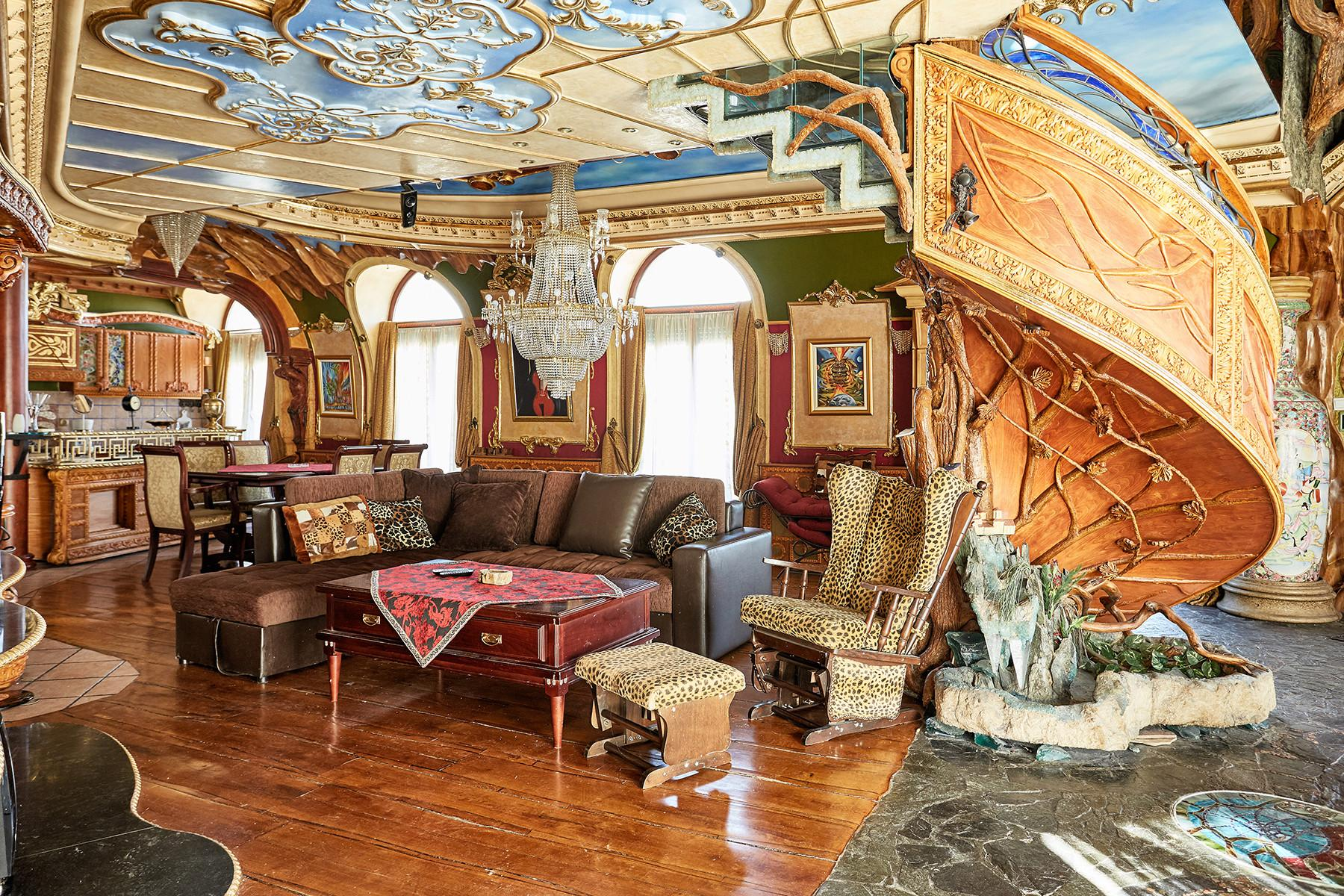 Spektakulärt slott i Makedonien.