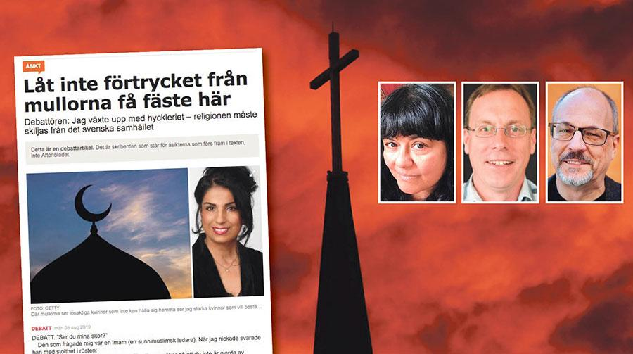 KD är inte ute efter att värna det sekulära samhället. De verkar mer ute efter att stärka kristendomens roll på andra livsåskådningars bekostnad, skriver Dinky Daruvala, Ulf Gustafsson och Patrik Lindenfors.