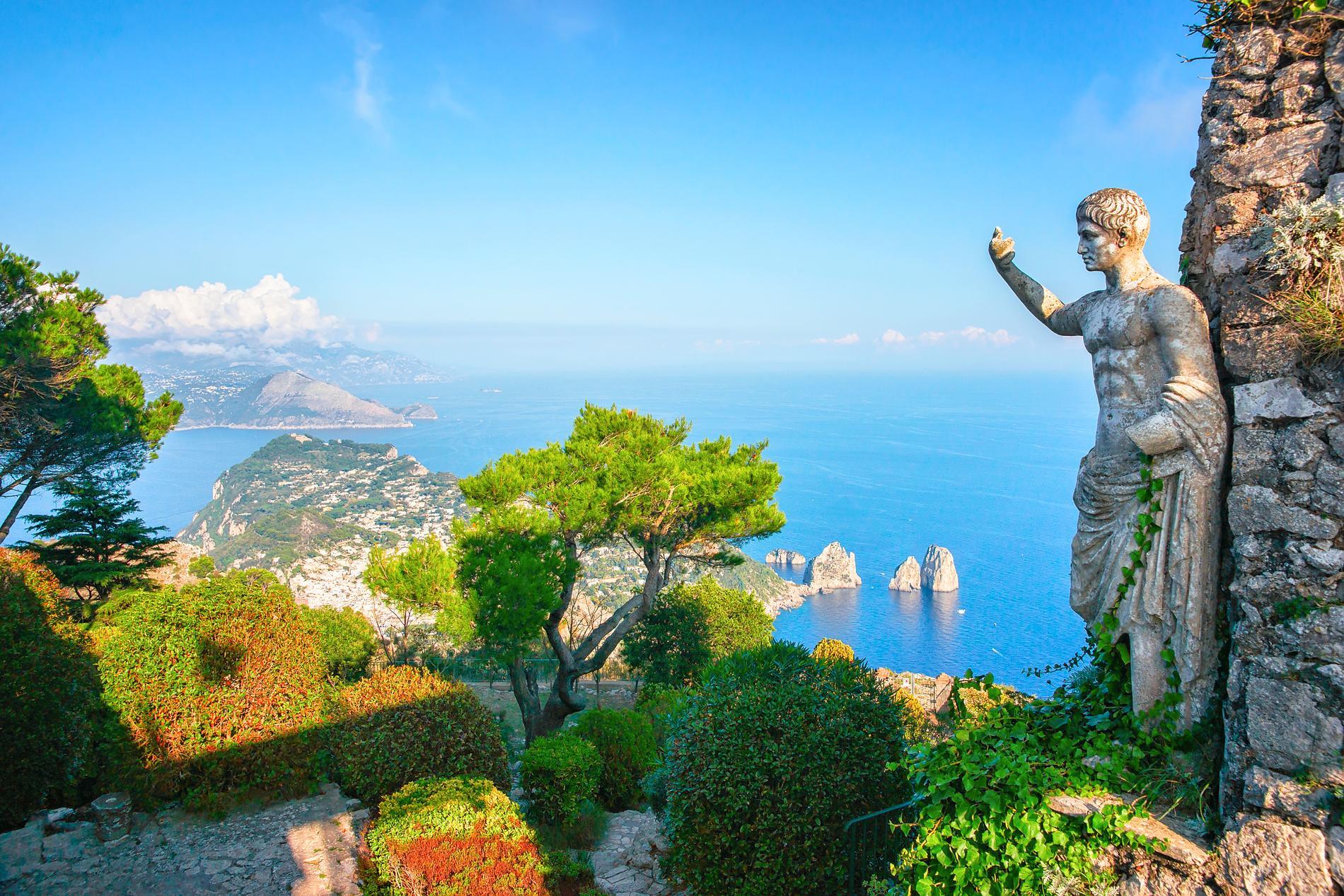 På Capri finns fantastiska utsikter.
