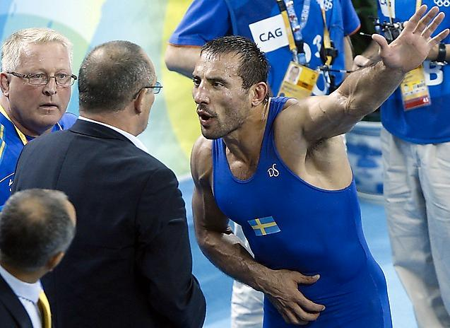 Ara Abrahamian blev bortdömd i semifinalen i OS 2008.