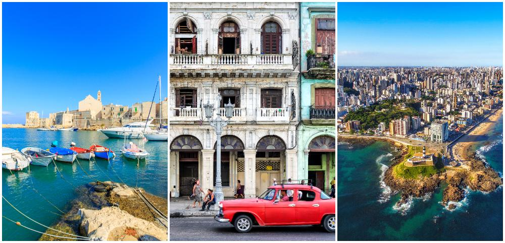 Grekland, Kuba och Brasilien ingår i de blå zonerna.