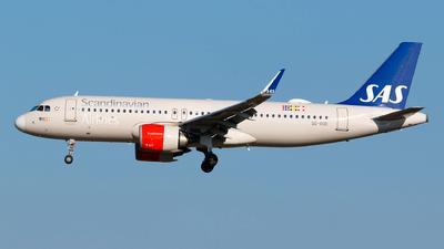 Passagerarflygplanet av modell Airbus A320-251N, tillhörande SAS.
