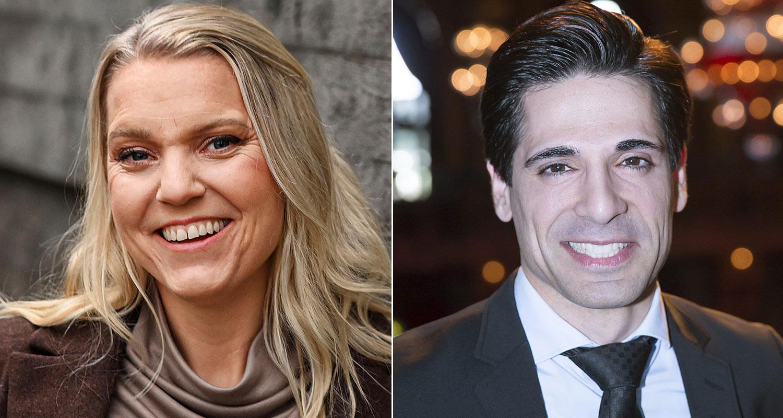 """Carina Bergfeldt och Marcus Oscarsson bildar lag i """"På spåret""""."""