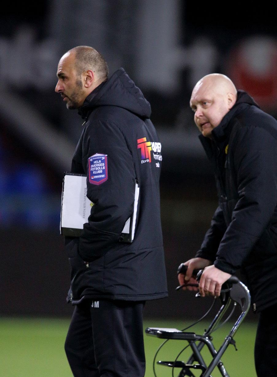Elfsborgs tränare Jan Mian och Klas Ingesson.