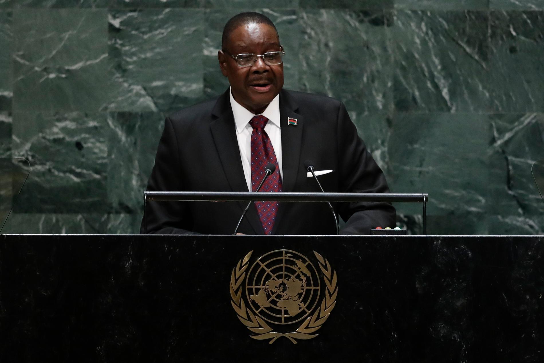Malawis president Peter Mutharika får en andra chans att bli återvald.