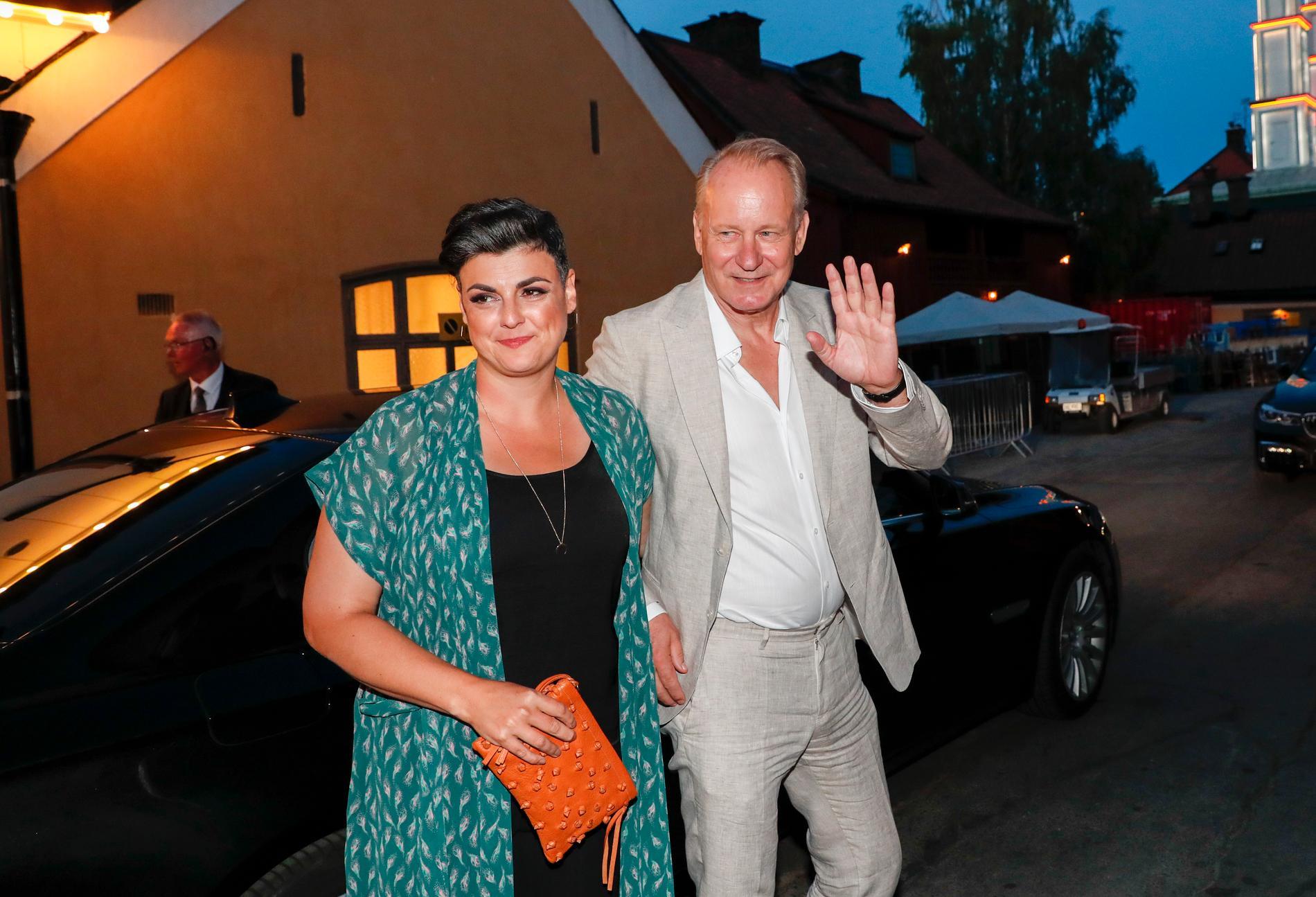 Stellan Skarsgård och frun Megan Everett-Skarsgård. Arkivbild.