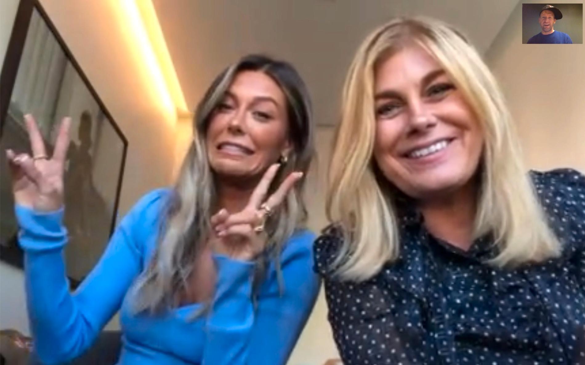 Bianca Ingrosso och Pernilla Wahlgren intervjuas av Aftonbladet.