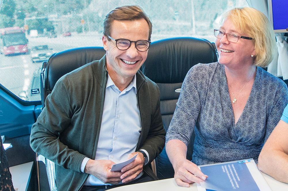 Ulf Kristersson med Irene Svenonius.