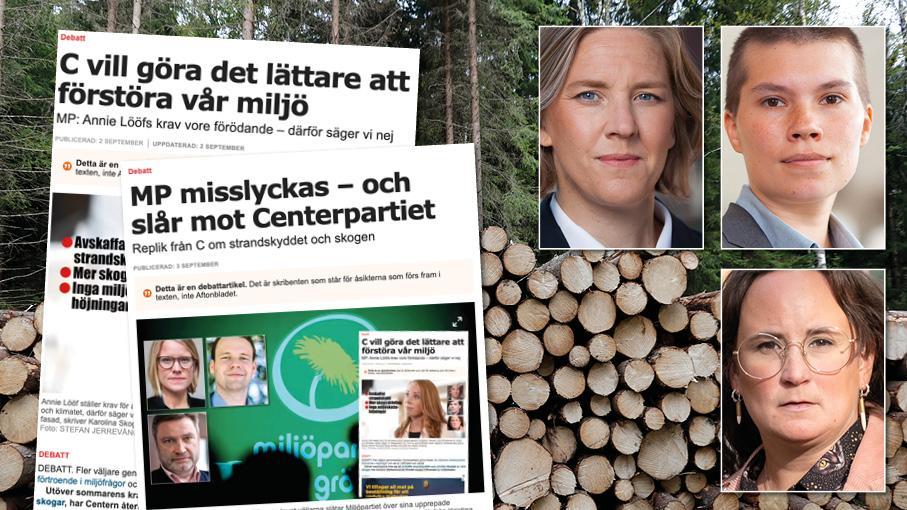 Det är lätt att tro att Sverige är fullt av skog, men sanningen är att vi knappt har någon riktig skog kvar. Det mesta är trädplantager. C är de stora markägarnas röst. MP kommer att fortsätta vara naturens och allmänhetens röst. Slutreplik från MP om strandskyddet och skogen.