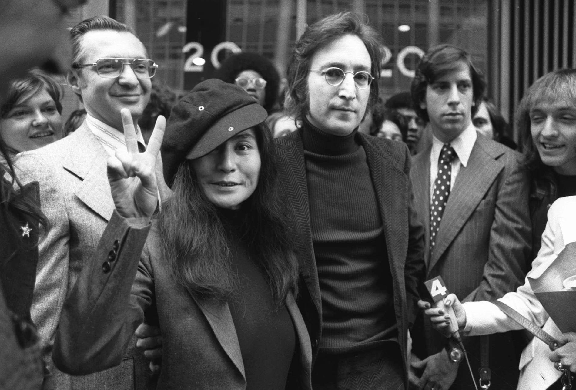 John Lennon och Yoko Ono 1972.
