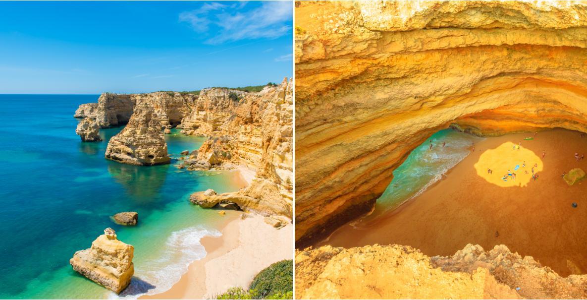 Det finns allt från stränder omgivna av klippor till långa och breda stränder i Algarve.