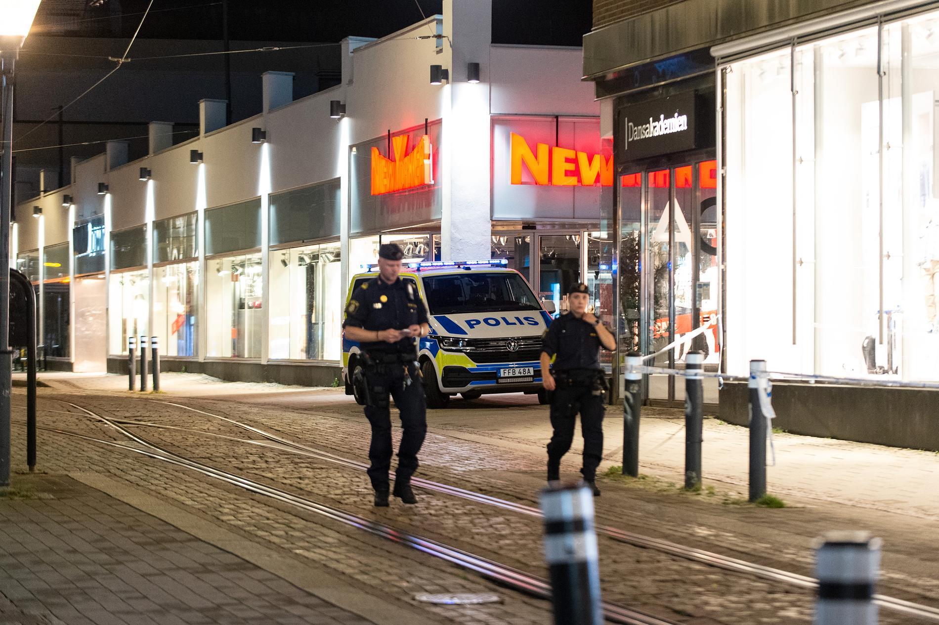 Smash and grab-kupp i Norrköping.