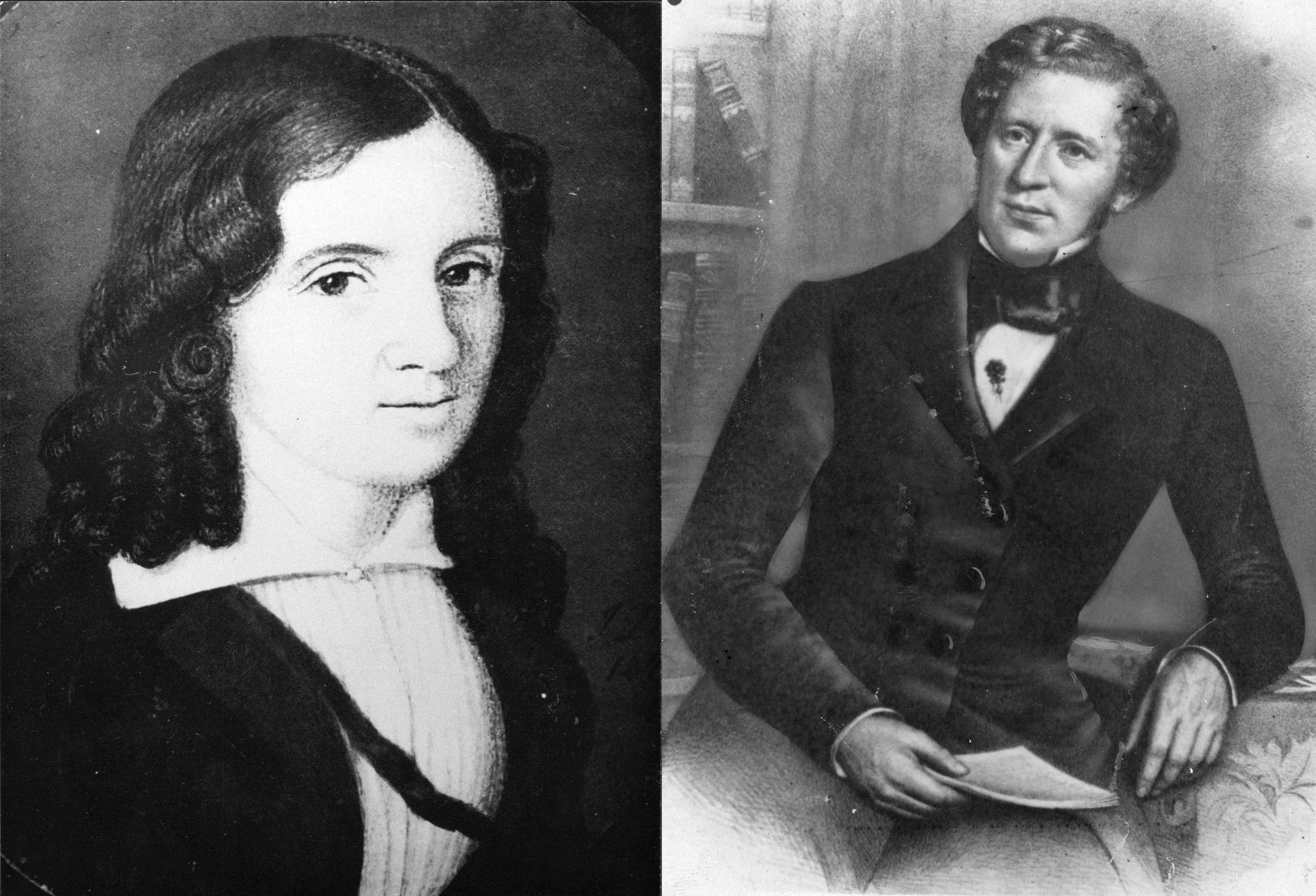 Wendela Hebbe och Lars Johan Hierta var båda gifta på var sitt håll, men hade ett nära och intimt förhållande.