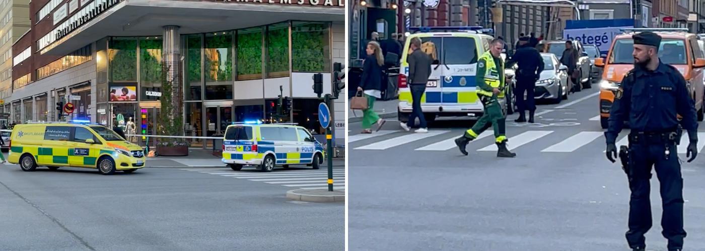 Två personer har knivskurits på Kungsholmen i centrala Stockholm