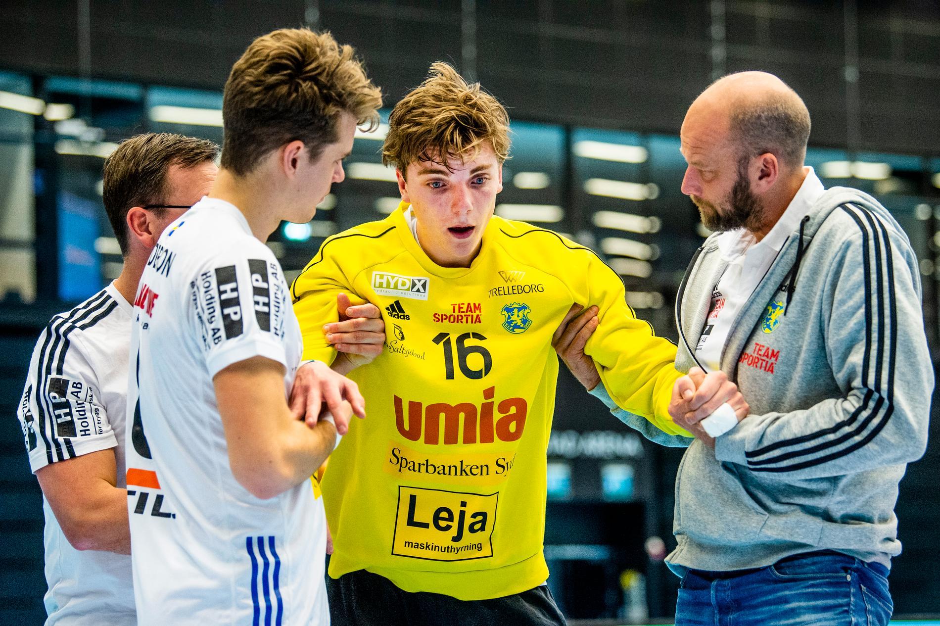 Erik Hvenfelt under matchen mellan Ystads IF och HK Malmö