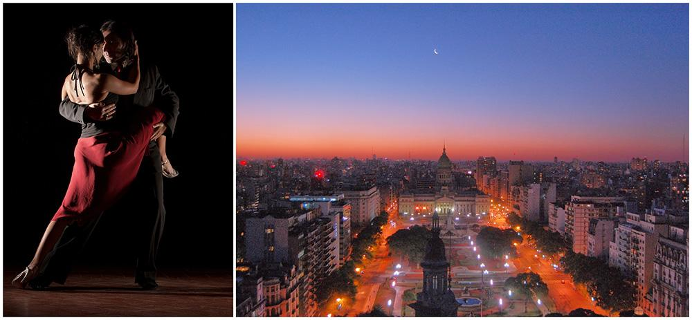 Dansa tango i romantiska Buenos Aires.