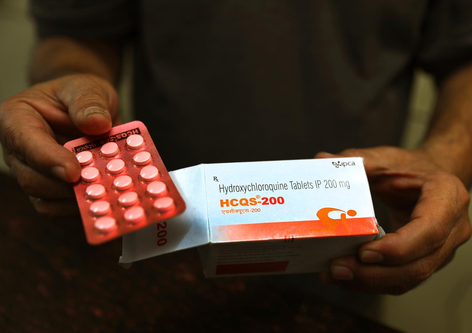 Malariamedicinen hydroxiklorikin godkänns av den ryska regeringen mot virussjukdomen covid-19. Arkivbild.