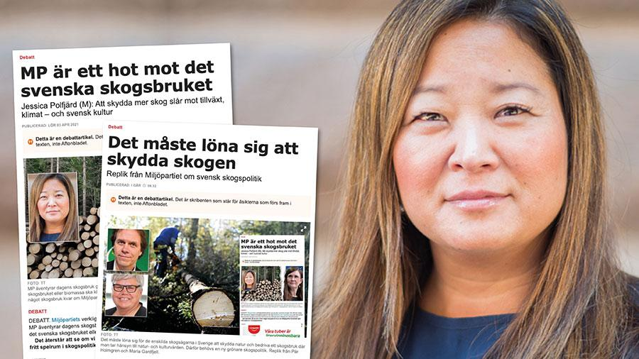 När inte Miljöpartiet och resten av regeringen är villiga att stå upp för den svenska skogen så kommer Moderaterna att göra det. Inte bara med tomma löften, utan med konkret handling. Slutreplik från Jessica Polfjärd.