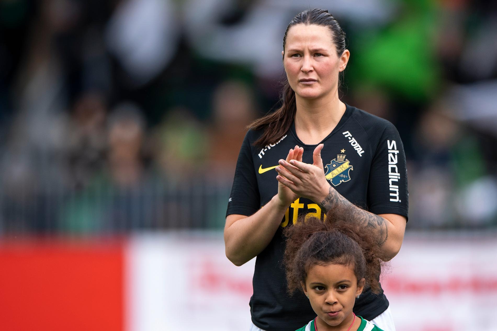 Nicole Odelberg Modins i AIK-tröjan i fjol.